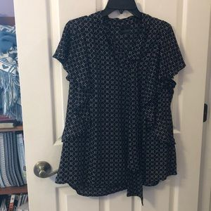 Black & White Worthington Blouse Size XL
